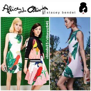"Alice + Olivia ""Malin"" Bird Dress 6"